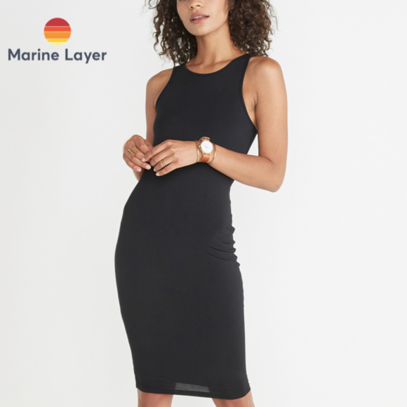 48af7369369 Marine Layer -  Lexi  Midi Tank Dress (BLACK)
